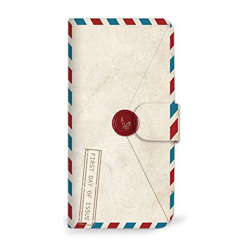 mitas Xperia A4 SO-04G ケース 手帳型  手紙 封筒 切手 A (179) SC-0231-A/SO-04G