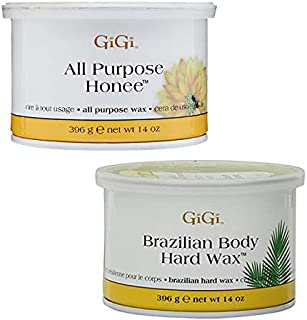 GiGi All Purpose Honee 14 oz + Brazilian Body Hard Wax 14 oz