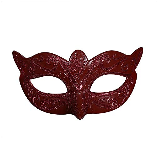 Vetasac Half Face Venetian Masquerade Masks for Child Ball Party Cosplay Halloween Costume Masks XP004 (Red)