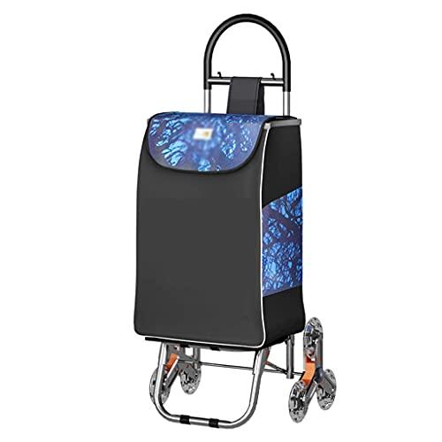 YANGLOU-Carrito de compras silencioso plegable- Carrito plegable del hogar, carrito de compras portátil para personas mayores, 35L de capacidad impermeable impermeable XBYZDGUC-5 ( Size : 93*40*21cm )