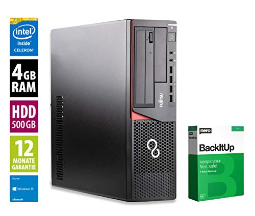 Fujitsu Esprimo E720 DT - Celeron G1820 @ 2,7 GHz - 4GB RAM - 500GB HDD - DVD-ROM - Win10Home (Zertifiziert und Generalüberholt)
