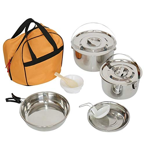 CPH20 Ultralight Camping Cookware Set Outdoor Cooking Mess Kit Pots Pans Camp Kettle Portable for Backpacking Hiking Trekking Picnic Fishing Mountaineering