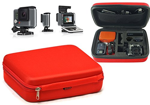 Navitech Rotes Shock Sicheres Hard Case / Cover kompatibel mit dem DBPOWER HD 1080P + MAGINON AC-800W Action Camera / Kamera