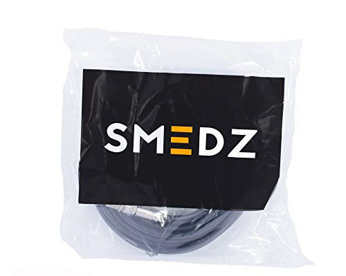 Smedz 3 m Twin Satellite Shotgun Coax Cable Extension Kit with Premium Fitted Compression F Connectors for Sky Q, Sky HD, Sky+ and Freesat - Black