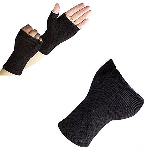 KaariFirefly Handgelenkbandage für Arthrose, elastisch, Unisex, 1 Paar, Schwarz , Einheitsgröße