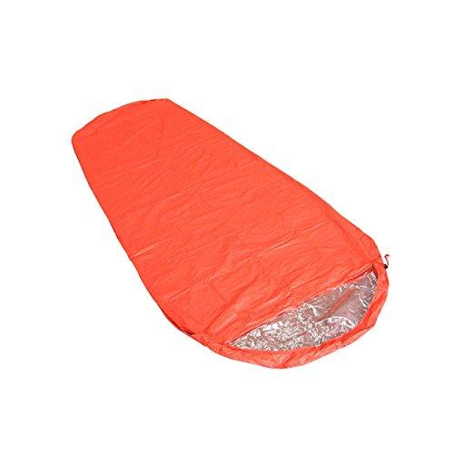 Xin.S Escalade En Plein Air Camping Sac De Couchage Momie Monocouche Couverture De Sauvetage D'urgence Sur Le Terrain Sac De Couchage Camping Multifonctionnel,Orange-210*83cm