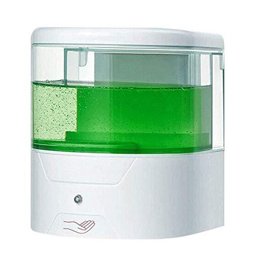 YM963 Montado en la Pared del jabón líquido del dispensador de 600 ml de Capacidad Soap Box Gel de Ducha Material de la Caja ABS (Color: Blanco)