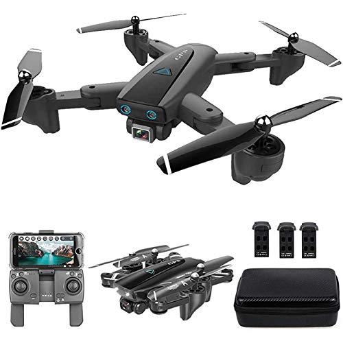 MRSDBTL GPS Drone, 2.4G WiFi FPV RC Drone con cámara 4K HD Fotos de Gestos Video, Regreso automático a casa, Retención de altitud, Sígueme RC Quadcopter para Adultos con Bolso,3 Batteries
