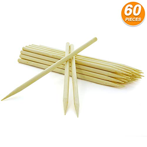 Find Bargain RamPro 6 Inch Long Bamboo Sticks Disposable Heavy Duty Eco Friendly Apple Sticks for C...