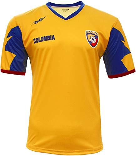 Colombia New Yellow Jersey by Arza 100% Polyester (2X-Large)