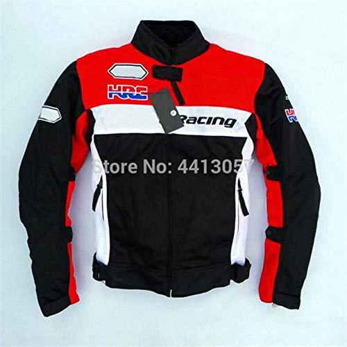 Motorrad-Reitschutzjacke fit/Für Honda Motocross MTB ATV Fahrrad Motorrad-Jacken mit warmen Liner,Sommer,M