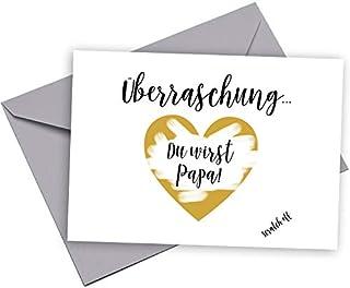 Happy Wedding Art Überraschung Karte personalisiert Du wirst Papa Geschenk Ich bin Schwanger Baby Rubbelkarte Rubbellos Karte Bald Papa Oma Opa Onkel Tante Ihr werdet Großeltern Schwanger Überraschungskarte