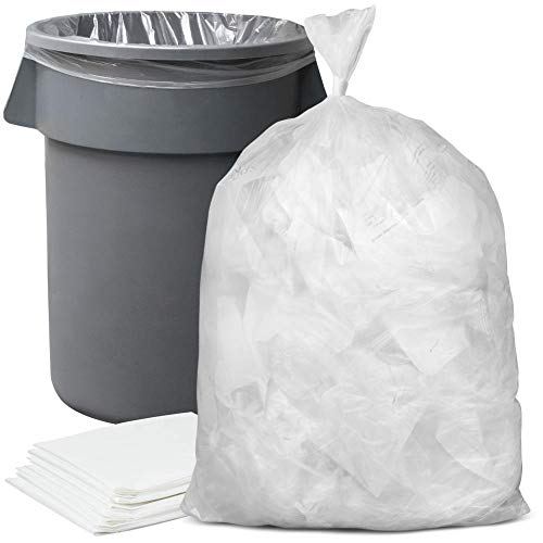 "Plasticplace 55-60 Gallon Trash Bags │ 1.5 Mil │ Clear Heavy Duty Garbage Can Liners │ 38"" x 58"" (50Count)"