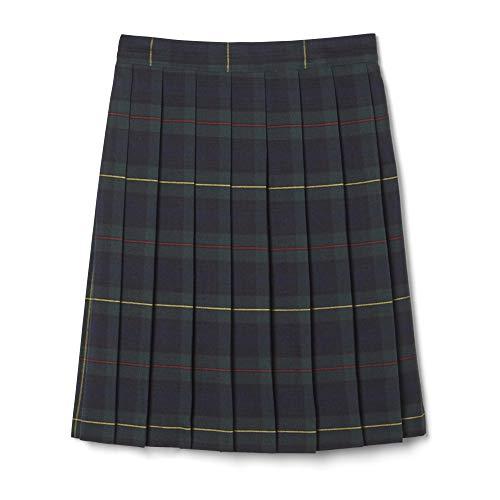 French Toast Big Girls' Plaid Pleated Skirt, Green, 10