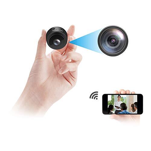 Cámara espía mini vigilancia inalámbrica oculta 1080 p HD visión nocturna sensor de detección de movimiento apoyo tarjeta SD para iPhone Android video detección seguridad niñera interior exterior