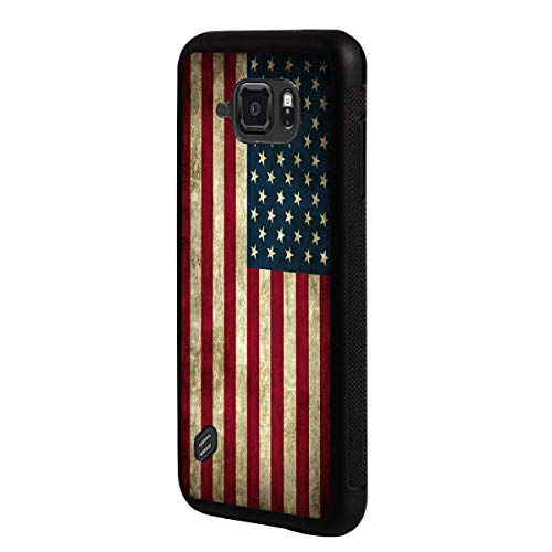 Galaxy S6 Active Case,BOSLIVE Vintage Old American Flag Design TPU Slim Anti-Scratch Protective Cover Case for Samsung Galaxy S6 Active