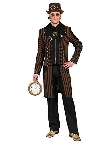 Kostüm Steampunk Herr Humphrey Größe 48/50 / Herren Anzug Schwarz Gold Steampunkkostüm Karneval Fasching Pierro's