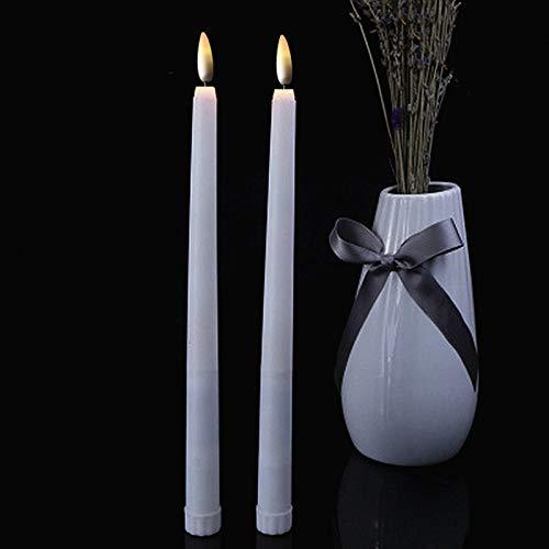 MARIJEE 6 piezas de luces LED cónicas sin llama, para decoración de mesa de boda o día de San Valentín, velas LED con mando a distancia, luces de Año Nuevo