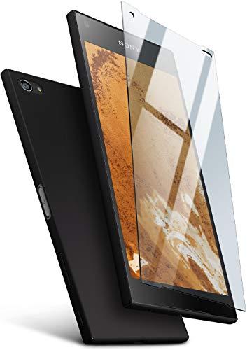 MoEx® 360 Grad Rundum-Schutz [Case + Panzerglas] für Sony Xperia Z5 Compact | Extrem dünne Handyhülle in Schwarz inkl. kristallklare Schutzfolie aus Hartglas