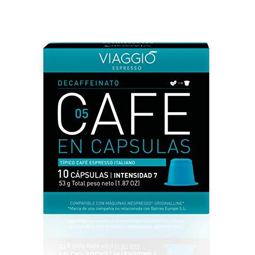 Viaggio Espresso Cápsulas de café compatibles con máquinas Nespresso Descafeinado (60 Cápsulas)