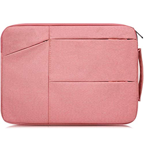 15.6 Inch Laptop Briefcase Bag Waterproof Shockproof Notebook Case Compatible Acer Predator Helios 300,Acer Aspire E15/Chromebook 15,ASUS VivoBook F510UA,MSI GL62M,HP Samsung LG Dell Notebook Bag,Pink