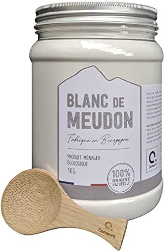 Cemacré blanco de Meudon + cuchara de bambú – 1 kg – Limpia y abrillanta toda la casa sin productos químicos