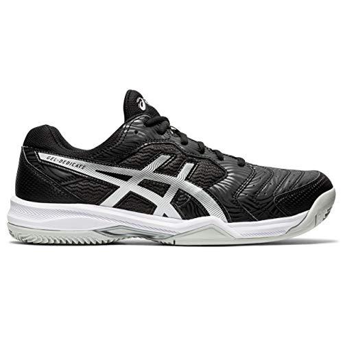 ASICS Gel-Dedicate 6 Clay, Zapatillas de Tenis Hombre, Negro Blanco, 44.5 EU