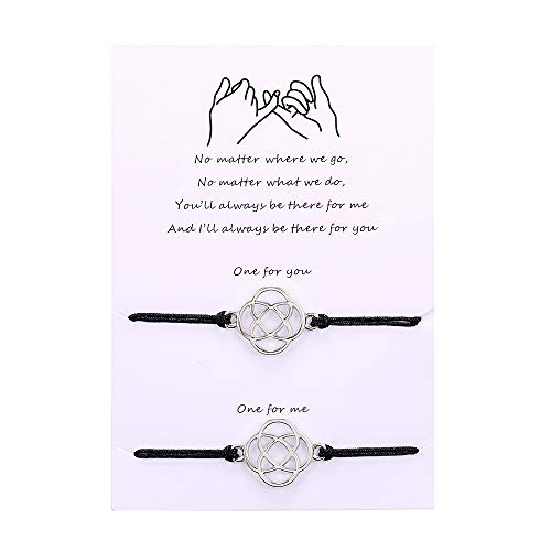 Pinky Promise Matching Distance Friendship Bracelets for Couples Best Friends Women Men Girls Mother Daughter Gift for Her