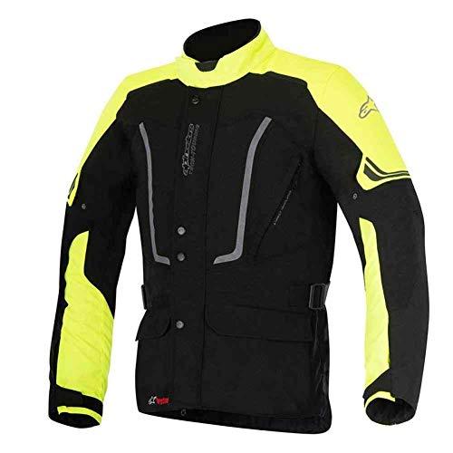 Alpinestars Vence Drystar Herren Motorradjacke, aus Textil, Schwarz / gut sichtbar, Größe XXL