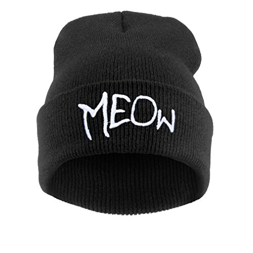 4sold Beanie Mütze Hat Mütze Bad Hair Day Fuckin Problems Comme des Fuckdown.Hit Neu 200 Models (Meow1 Big)