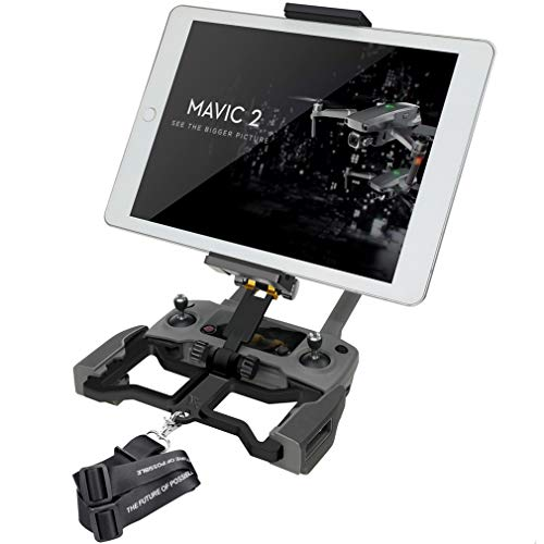 Hanatora Aluminum-Alloy 4.7-12.9 Inch Tablet Holder with Metal Nut Ring,Phone Mount with Lanyard Strap for DJI Mavic Mini,Mavic 2 Pro/Zoom, Mavic Air/Spark/Mavic Pro/Platinum Remote Controller