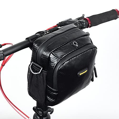DOLA Bike Front Frame Bag, Bicycle Basket Front Storage Handlebar Bag, Cycling Waterproof Sling Commuter Shoulder Pack for Road Mountain Outdoor Accessories,B