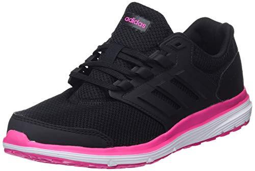 adidas Galaxy 4, Chaussures de Running Femme, Multicolore (Cblack/Cblack/Shopnk B44711), 45 1/3 EU