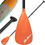 MoiShow SUP Paddle - Adjustable 3 Pieces Stand Up Paddle Board Paddle with Unique Lock Design Floating Alloy Shaft Paddleboard Paddle