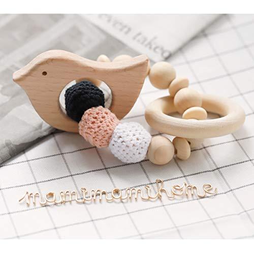 Mamimami Home Baby Zettel Spielzeug Armband für Baby Rassel Zahnen Spielzeug Hölzernes Tier