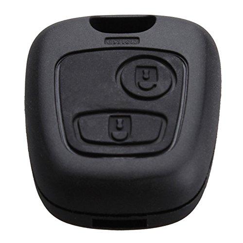 Coque de télécommande à 2 boutons de clé Citroen C1 C2 C3 C4 XSARA Picasso Peugeot 107 207 307 407 106 206 306 406