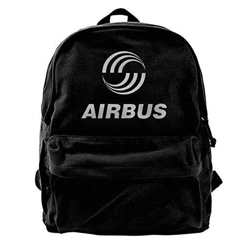 Yuanmeiju Mochila de Lona Airbus Group Logo Innovative Neutral Minimalist Style Black