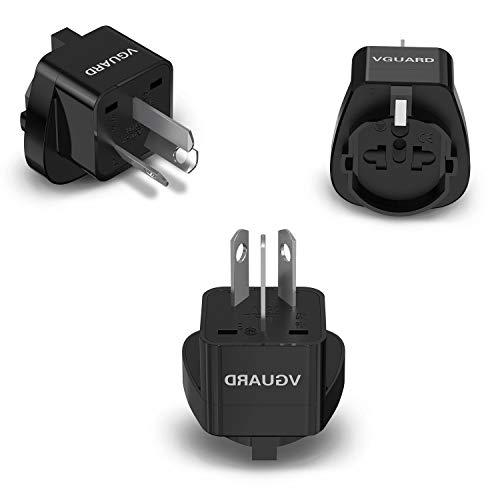 VGUARD Adaptador Enchufe Universal, 3X Convertidor Adaptador de Viaje Internacional para 3...
