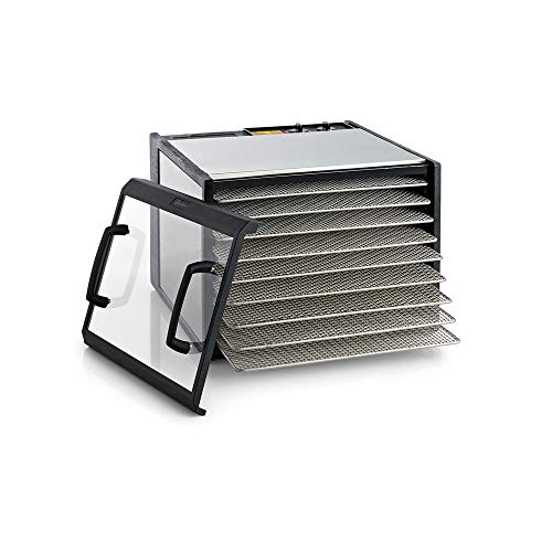 Excalibur D900CDSHD 9 Electric Food Dehydrator with Stainless Steel Trays and Clear Door Features...