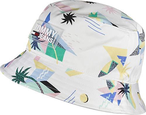 Tommy Hilfiger TJM Surf Bucket Hat Gorra de béisbol, Blanco, Talla única (Talla del Fabricante:) para Hombre