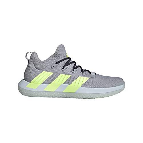 adidas Men's Stabil Next Gen Primeblue Volleyball Shoe, Halo Silver/Yellow/Ink, 12