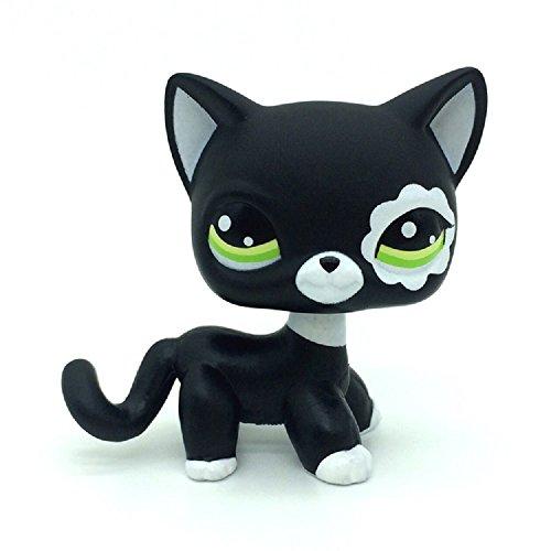 ZAD Rare Black Short Hair Cat Kitty Animal Figure Tpy LPSs #2249