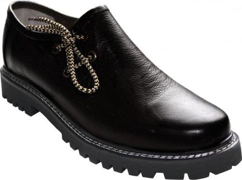 German Wear, Haferlschuhe Trachtenschuhe Original-Handmachart Glattleder, Schuhgröße:42, Farbe:Schwarz