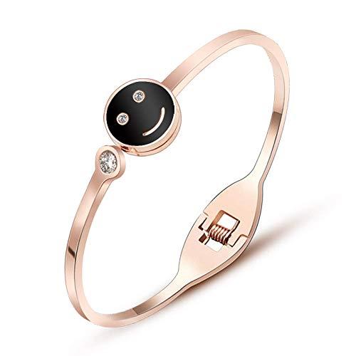 Armband Armbanden Link Armbanden RVS Armband Smiley Met Diamant Sieraden Lente Gesp Sieraden