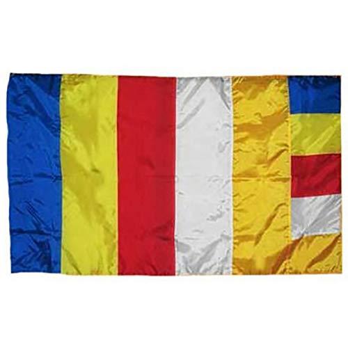 Trade Winds Buddha Buddhist Flag 3x5 Super Polyester, Canvas Header & Brass Grommets Premium Fade Resistant