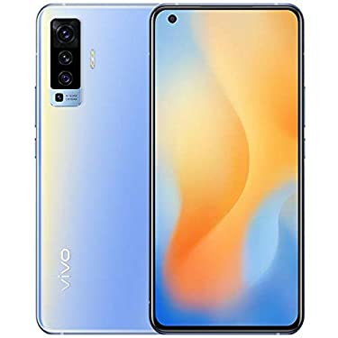 """Original X50(V I V O) 5G Mobile 8G+128GB Snapdragon765G 6.56"""" AOMLED 2376x1080P 48MP 4200mAh NFC 33W Charge Fingerprint Android10 Smartphone Support Google by-(Real Star Technology) (Blue 8+128)"""