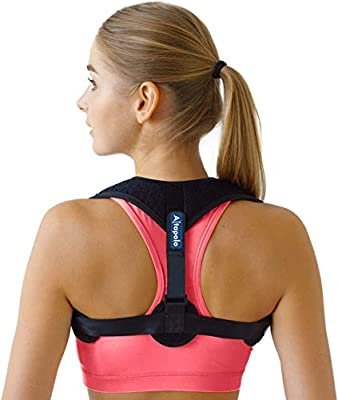 Posture Corrector for Men & Women - Adjustable Shoulder Posture Brace - Figure 8 Clavicle Brace for Posture Correction and Alignment - Invisible Thoracic Back Brace for Hunching by Altapolo