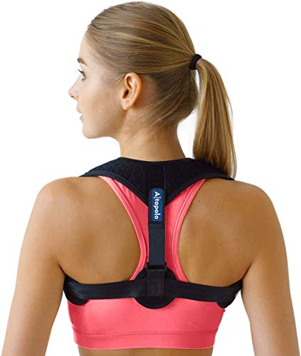 Posture Corrector for Men & Women - Adjustable Shoulder Posture Brace - Figure 8 Clavicle Brace for Posture Correction and Alignment - Invisible Thoracic Back Brace for Hunching