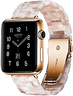 BONSTRAP Compatible with Apple Watch Band 38mm 40mm 42mm 44mm Resin Watch Band for Iwatch Series 1 2 3 4