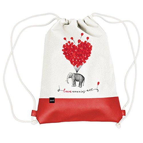 City Bag Beutel mit Doppelkordel Love carries all